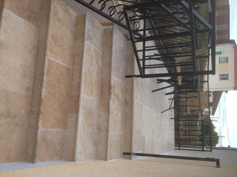 L 39 entreprise les espaces verts de la champagne vous for Peindre escalier travertin