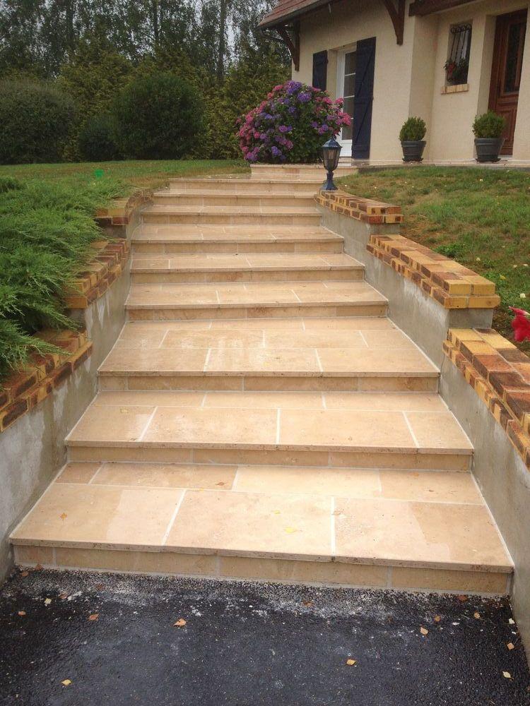 L 39 entreprise les espaces verts de la champagne vous for Escalier exterieur beton arrondi