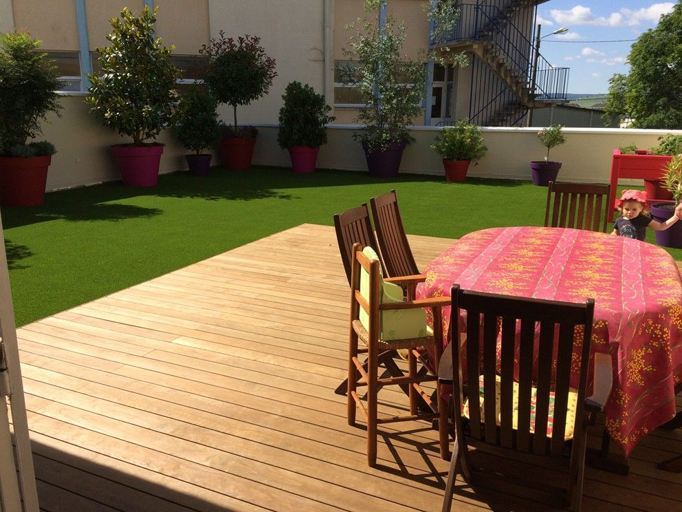 L 39 entreprise les espaces verts de la champagne vous apporte son savoir fa - Pelouse synthetique pour terrasse ...